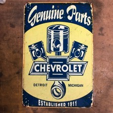 genuine chevy parts garage sign