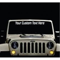 CUSTOM WINDSHIELD DECAL JEEP 4X4 TRUCKS ANY VEHICLE