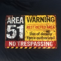 warning area 51 restricted area vintage look sign