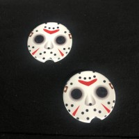 friday the 13th jason voorhees sand stone car coasters *set of two