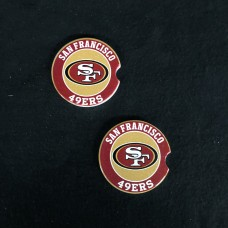 SAN FRANCISCO 49ers NINERS car coaster set of two