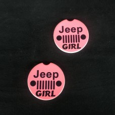 Jeep Girl Sandstone car coaster set of two For Jeep Yj Cj Xj Jk Jku
