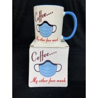 COFFEE.. my other face mask 11 oz Funny Coffee Mug gift set with mask design