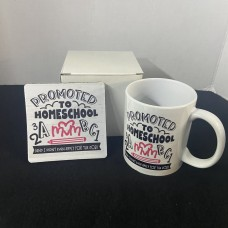 HOME SCHOOL MOM a job i didn't even apply for 11oz coffee mug gift set