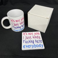 It's not you i just hate everyone funny gag gift coffee mug 11 oz ceramic coffee mug gift set