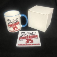 Trailer Park Boys Freedom 35 gag gift coffee mug 11 oz ceramic coffee mug gift set Microwave and Dishwasher safe
