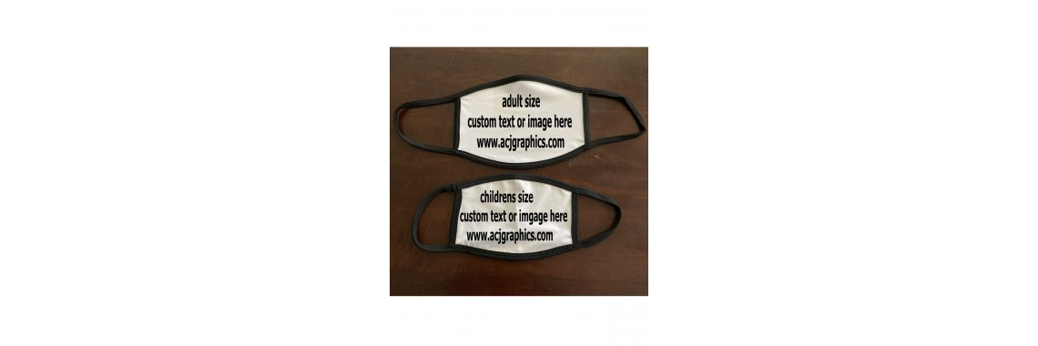 custom printed breathable face mask children and adult sizes