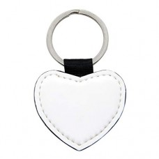 Leather Heart or Rectangle key chain