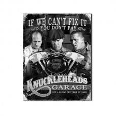 the three stooges knucklehead garage aluminium sign