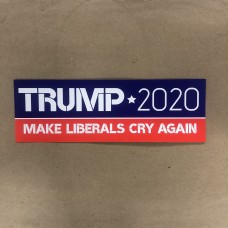 TRUMP 2020 MAKE liberals cry again 2020 bumper sticker