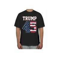 Trump 45 with flag design t shirt