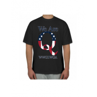 WE ARE Q american flag t shirt