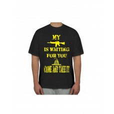 My AR is WAITING come and take it tee shirt