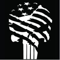 punisher vinyl sticker flag